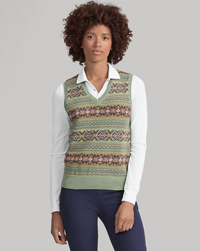 Fair Isle Golf Sweater Vest