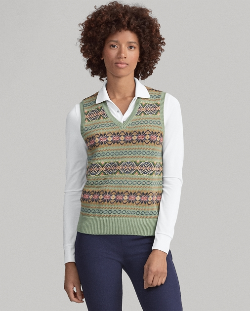 9366b705d Ralph Lauren Golf Fair Isle Golf Sweater Vest 1