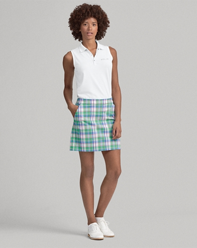 Plaid Pleated Golf Skort