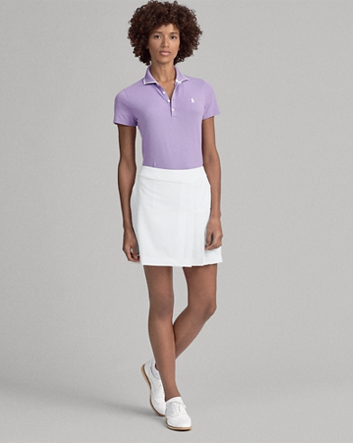 Pleated Jersey Golf Skort
