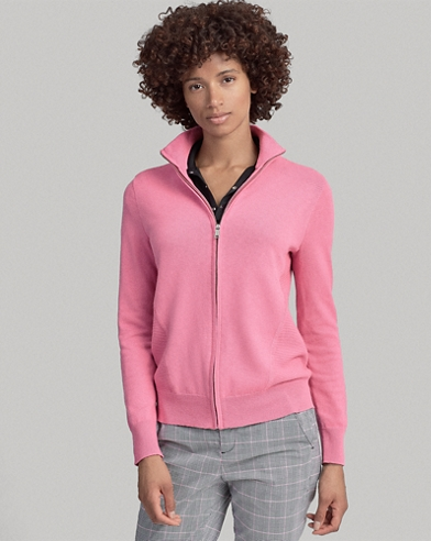Thermal Golf Zip Sweater