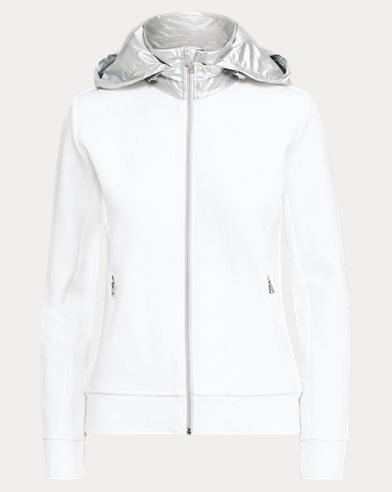 Cotton-Blend Zip Hoodie