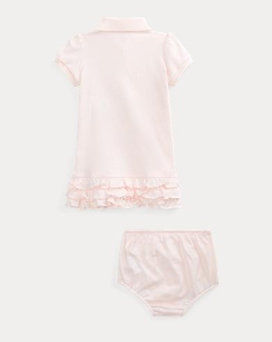 22dbbf0be Ruffled Polo Dress   Bloomer. Baby Girl