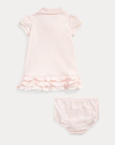 e7e9cf3a4 Ruffled Polo Dress   Bloomer. Baby Girl