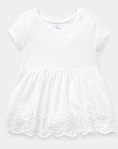 Eyelet-Embroidered Cotton Top