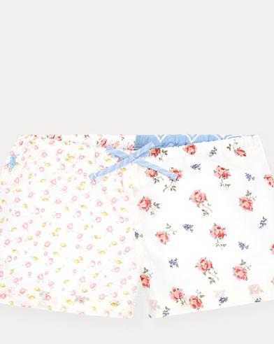Mixed-Floral Cotton Short