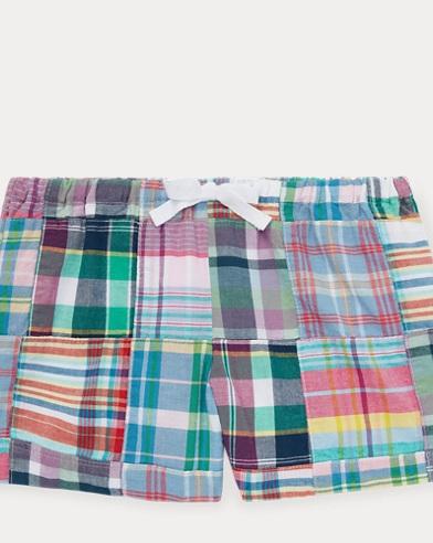 Patchwork Cotton Madras Short