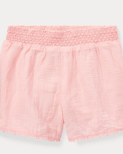 Smocked Cotton Short