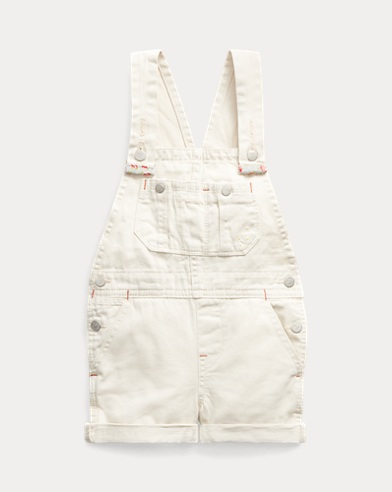 Floral Cotton Denim Overall