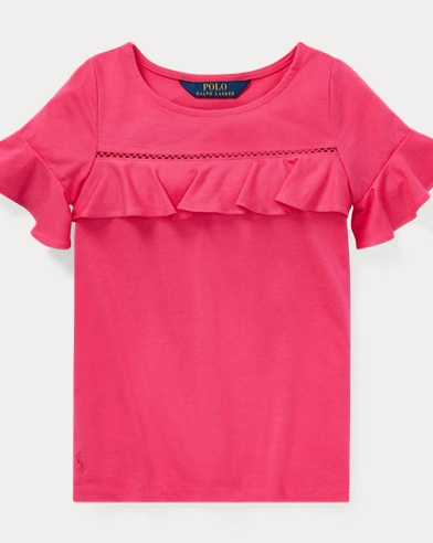 Ruffled-Yoke Top