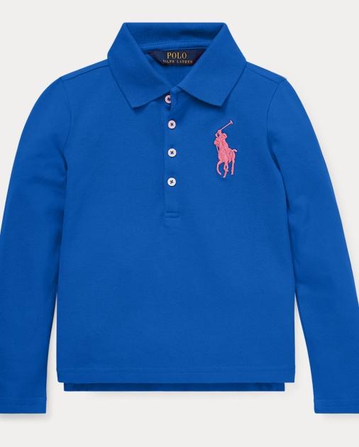 8abc90ce8 Girls 2-6x Big Pony Stretch Mesh Polo 1