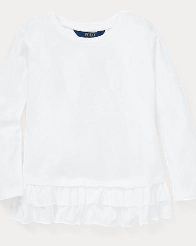 Ruffled Cotton-Modal Top
