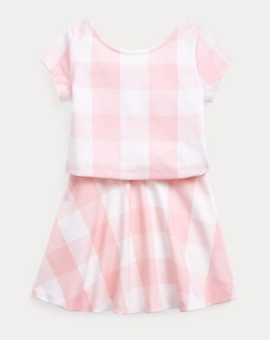 Gingham Top & Skirt Set