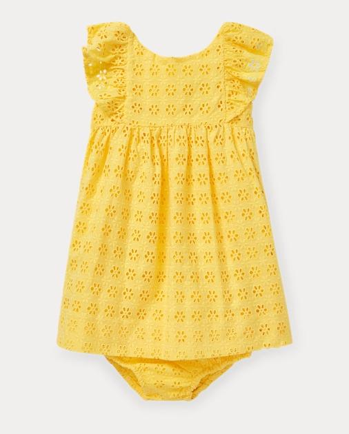 Baby Girl Eyelet Cotton Dress & Bloomer 1