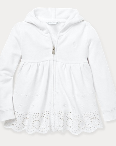 Eyelet French Terry Hoodie
