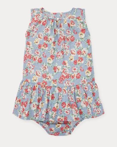 Floral Cotton Dress & Bloomer