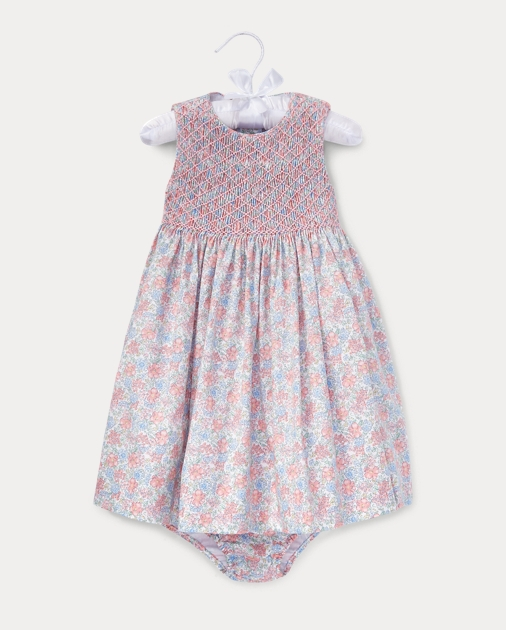 b1b62986e67 Baby Girl Floral Hand-Smocked Dress 1