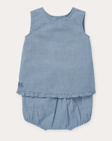 Gingham Cotton Top & Short Set