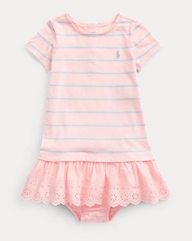 Striped Eyelet Dress & Bloomer