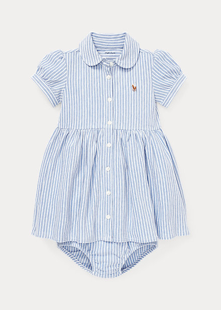 Polo Ralph Lauren Striped Knit Oxford Dress