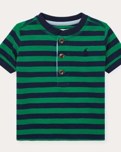 Striped Cotton Jersey Henley
