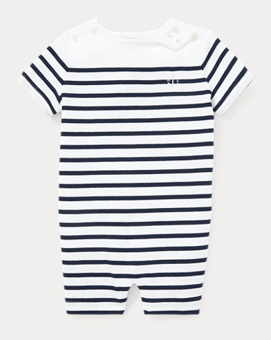 Striped Cotton Shortall