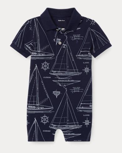Sailboat Mesh Polo Shortall