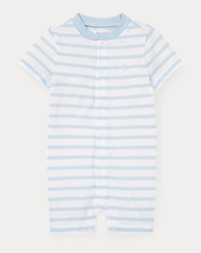 Striped Cotton Jersey Shortall