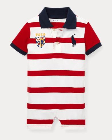 Striped Cotton Polo Shortall