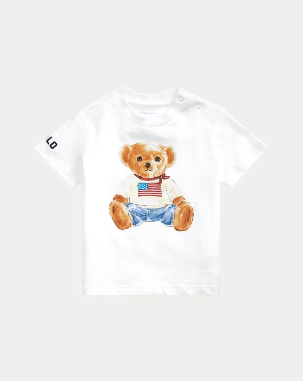 Flag Bear Cotton Jersey Tee
