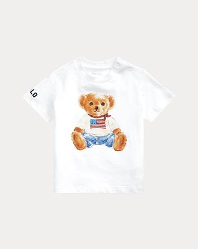 Flag Bear Cotton Jersey Tee