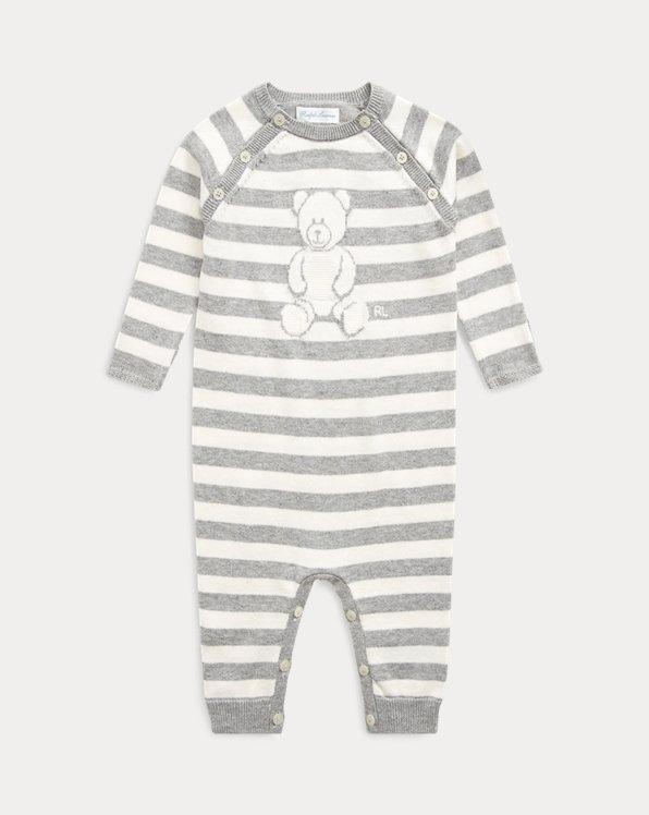 Striped Bear Organic Cotton Coverall