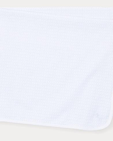 Anchor-Print Cotton Blanket