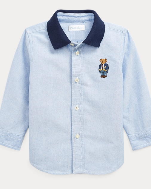 8f458eef Baby Boy Polo Bear Cotton Oxford Shirt 1