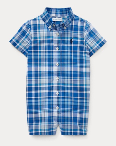 Plaid Cotton Poplin Shortall