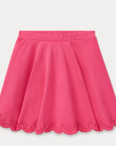 Eyelet Ponte Circle Skirt