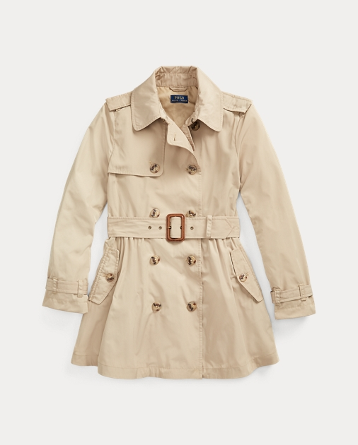 Girls 7-16 Water-Repellent Trench Coat 1