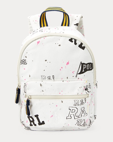 Doodle Canvas Small Backpack