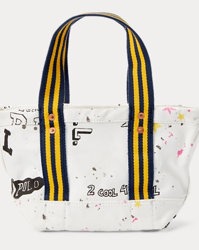 Canvas Graphic Mini Tote