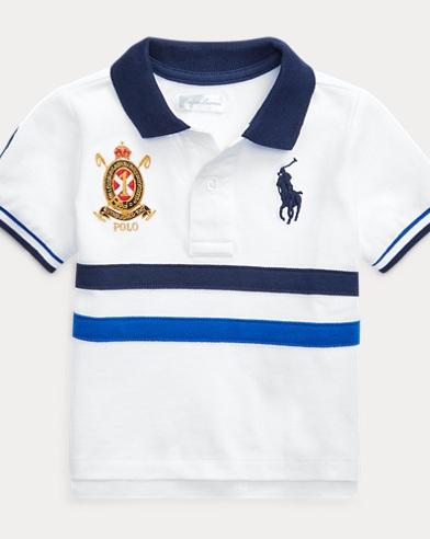 46f230932d5 Striped Cotton Mesh Polo Shirt. Take 30% off. Baby Boy