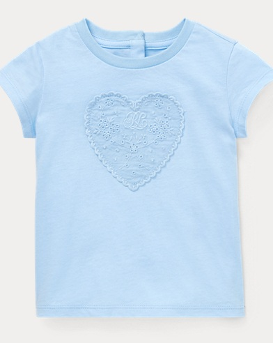 Eyelet-Patch Cotton Tee