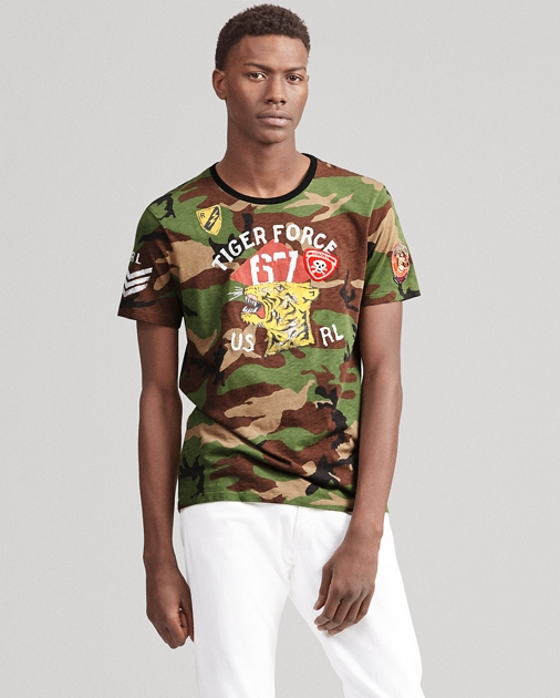 4763e265 Polo Ralph Lauren Custom Slim Fit Camo T-Shirt 1