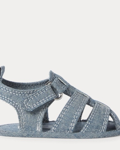 Julien Cotton Chambray Sandal