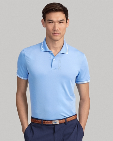 Custom Slim Fit Jacquard Polo