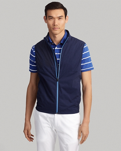 Paneled Interlock Golf Vest