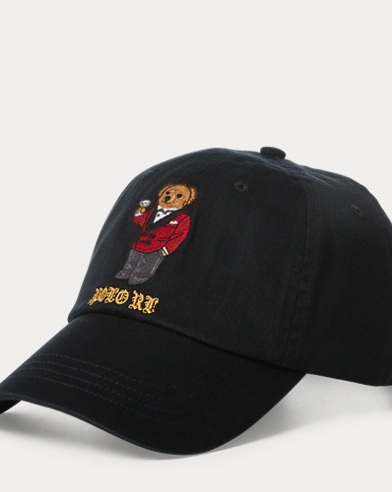 Martini Bear Baseball Cap