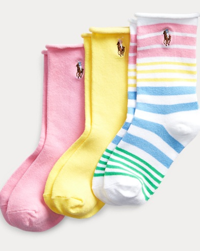Striped Roll-Top Sock 3-Pack