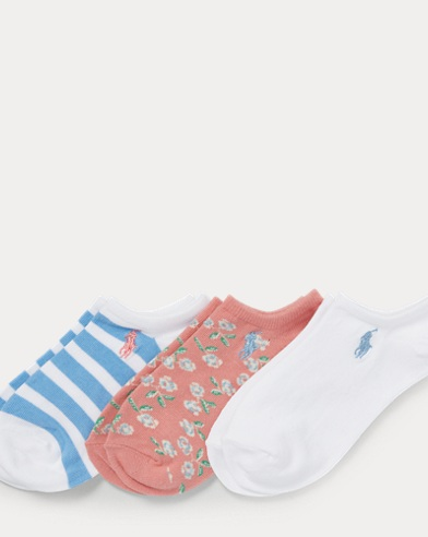 Floral Low-Cut-Sock 3-Pack
