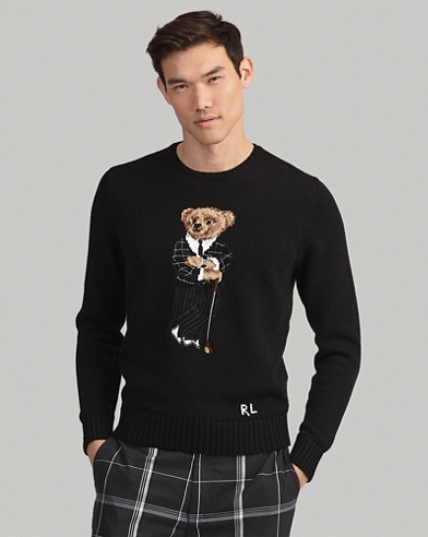 Golf Bear Cotton-Blend Sweater