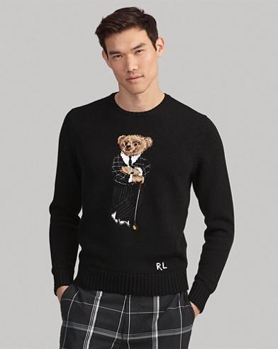 Pull ourson golfeur coton mélangé